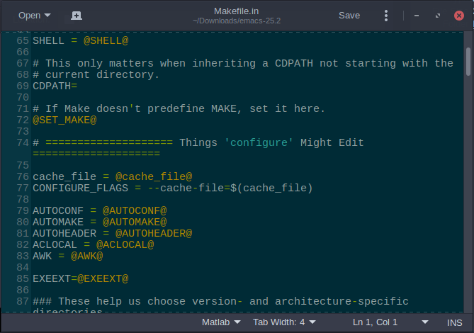 emacs makefile