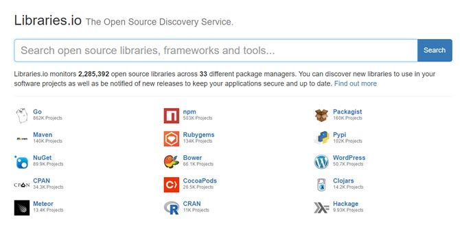 find libraries, modules, and frameworks.