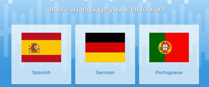 Pick a language