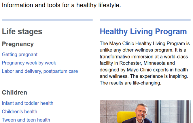 mayo clinic articles web