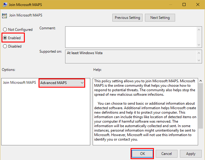 Make Windows Defender More Effective by Flipping One Setting Microsoft MAPS GPEdit