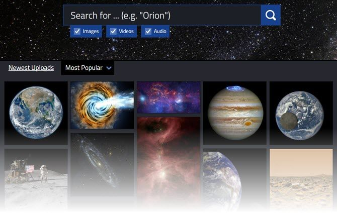A search engine for space buffs.