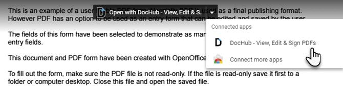 How to Fill Out PDF Forms Using Google Drive Open with DocHub