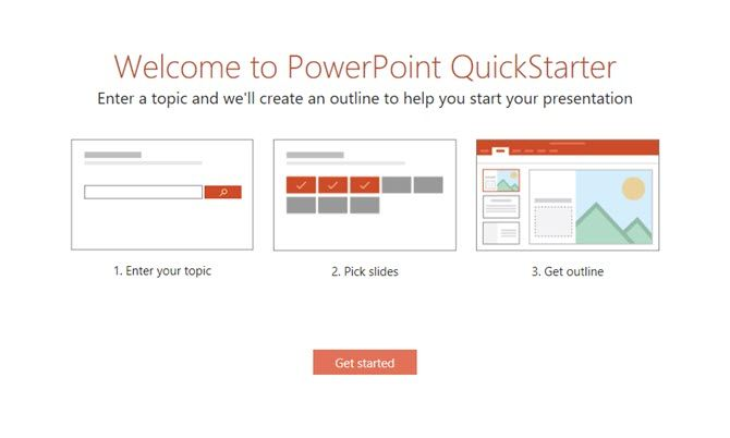 PowerPoint QuickStarter Instantly Outlines Any New