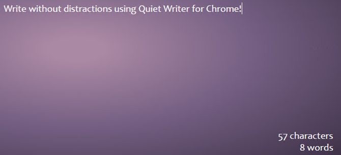 chrome quiet writer