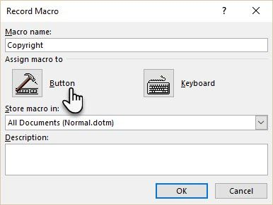 The Easy Way to Insert Special Symbols in Microsoft Word Record Macro Dialog