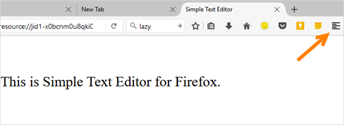 firefox simple text editor