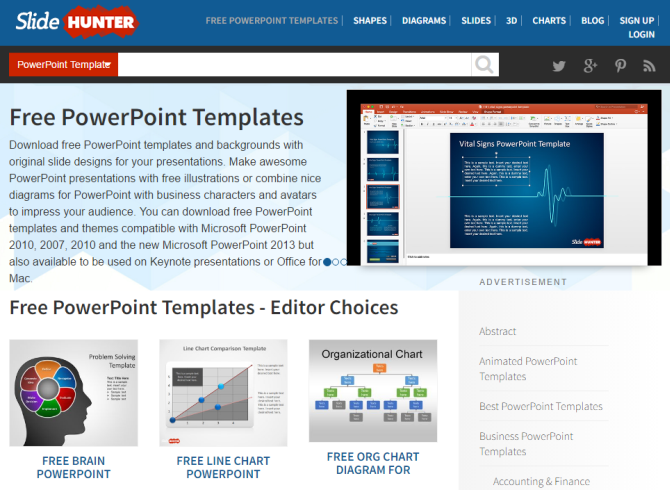 3 Excellent Sites To Get Free Document Templates SlideHunter 670x490