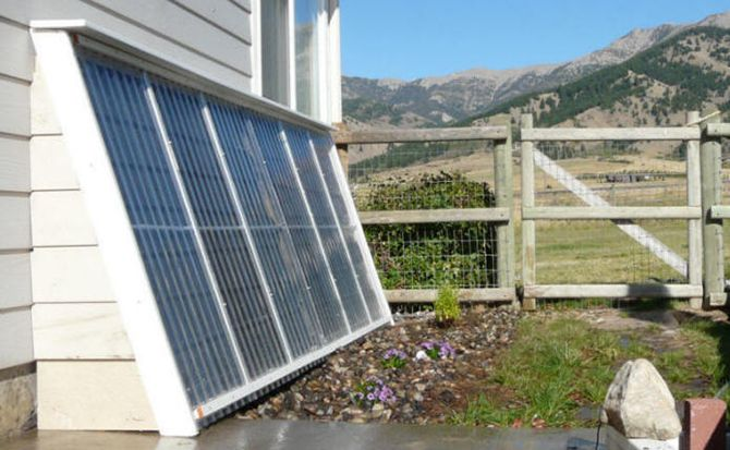 solar water heater house