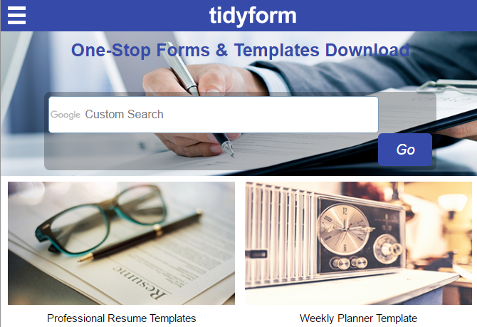 3 Excellent Sites To Get Free Document Templates TidyForm 670x459