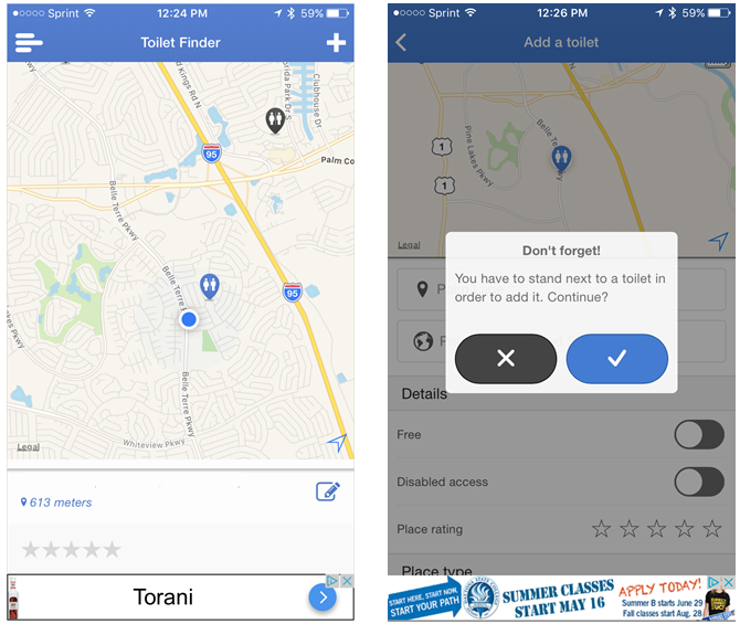 toilet finder map ios