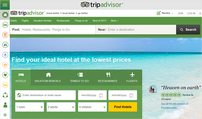 trip advisor windows app
