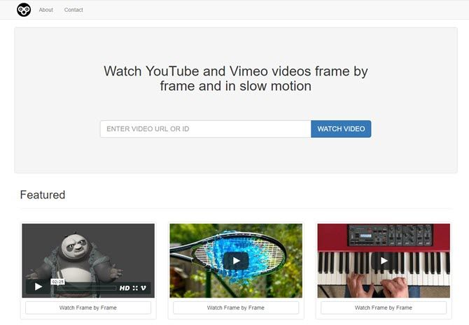 How to Watch YouTube or Vimeo in Frame-by-Frame or Slow Motion