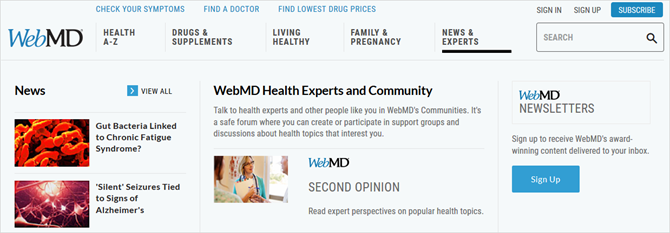 webmd health experts
