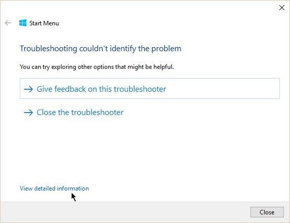 Having Start Menu or Cortana Issues? Use the Start Menu Troubleshooter Windows 10 Start Menu Detect