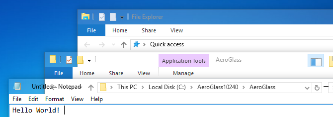 aero on windows 10
