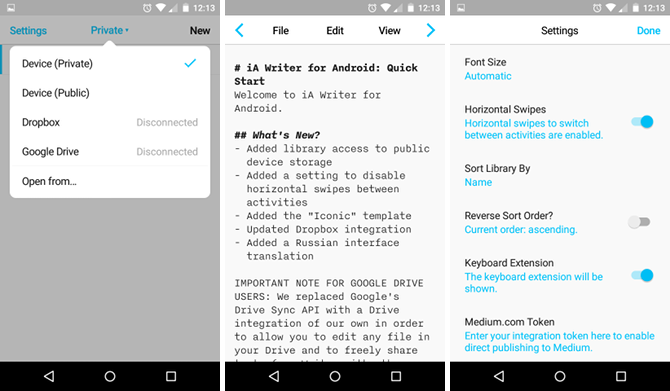 7 Distraction-Free Text Editors for Android Compared: Which Is Best? android text editor ia writer