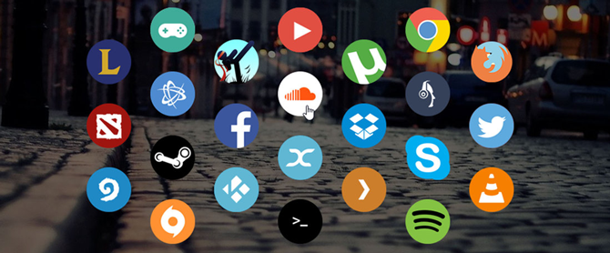 circle launcher icons for rainmeter