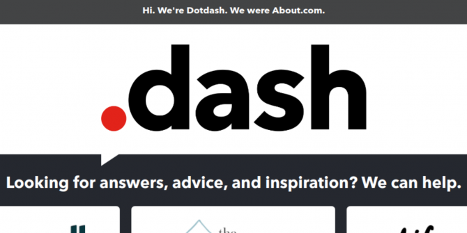 Internet Pioneer About.com Rebrands to Dotdash