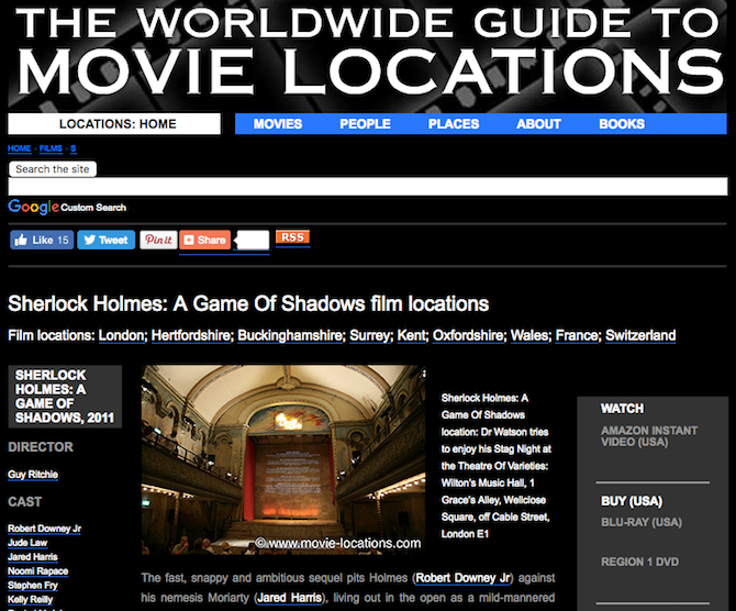 films tv shows movie locations