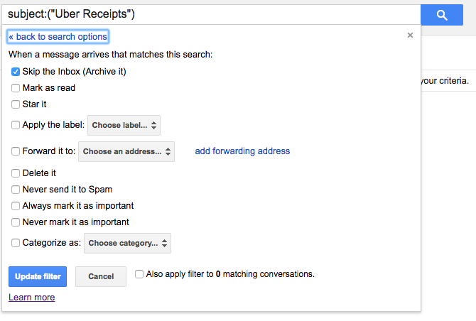 Search archived gmail