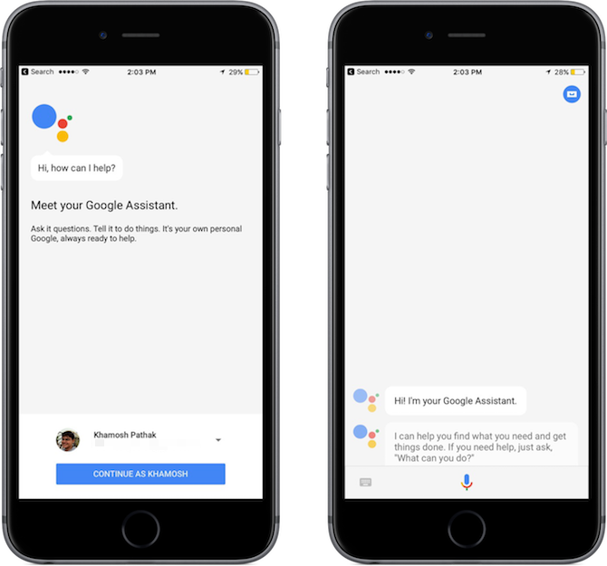 google assistant iphone setting up