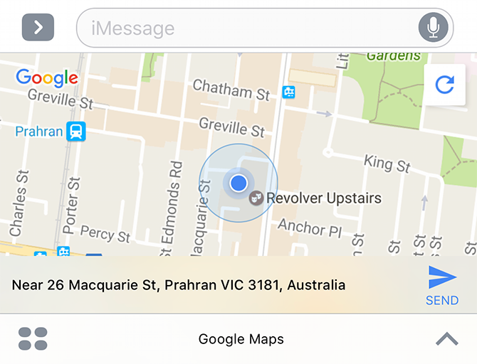 google maps imessage