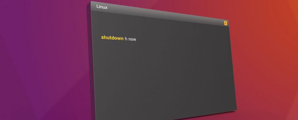 5 Ways to Shut Down Your Linux Computer From the Command Line