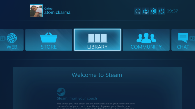 steam link device interface