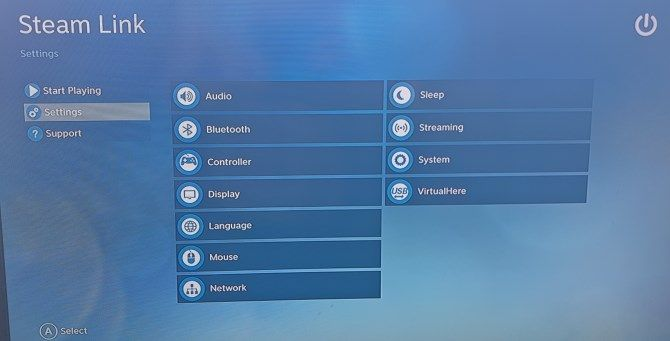 steam link device settings