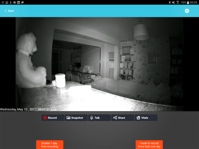 SpotCam Sense Pro Review (and Giveaway) muo hardware review spotcamsense security night