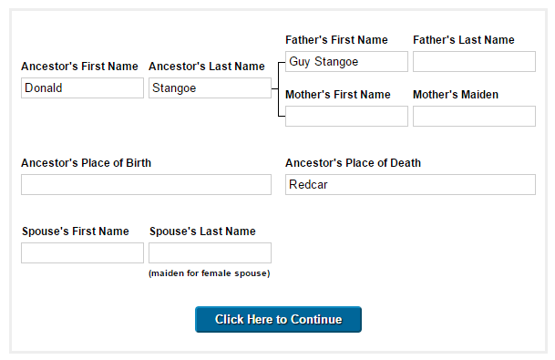 genealogy searchbox