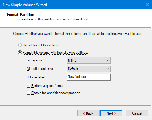 How to Set Up a Second Hard Drive in Windows: Partitioning new partition