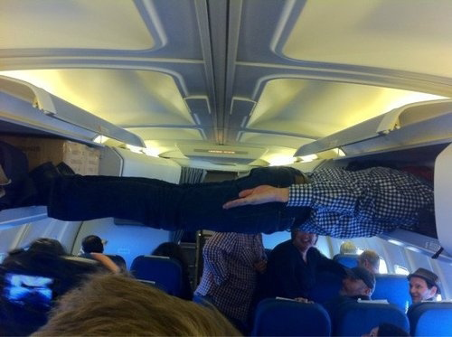 planking on the plane