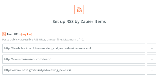 rss by zapier feeds entry