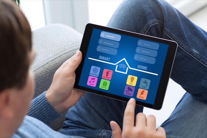 smart home control tablet