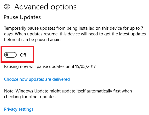 windows 10 defer updates