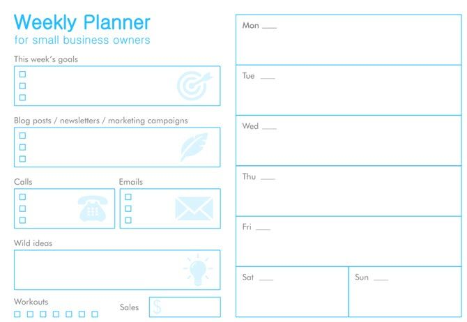 11 free printable planners that every office worker needs for Office planner online