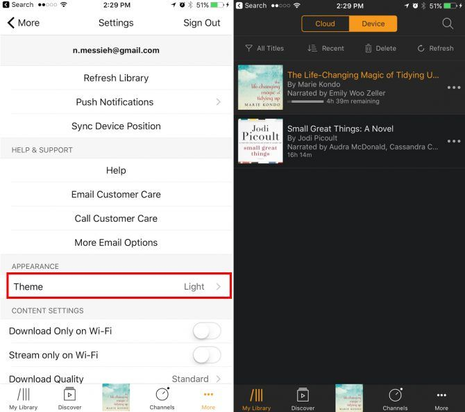 These Popular Apps Support Night Mode on iOS Audible NightMode e1496342496530