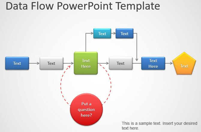 data flowchart diagram powerpoint
