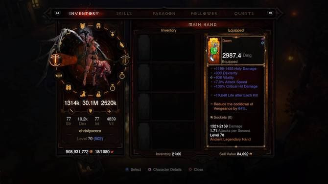 Diablo 3 Demon Hunter Gear