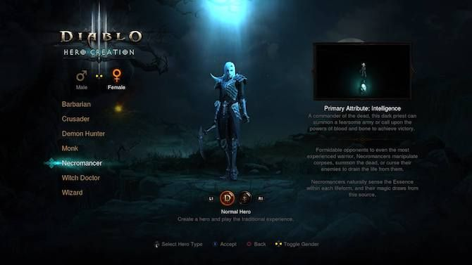 Diablo 3 PS4 Necromancer