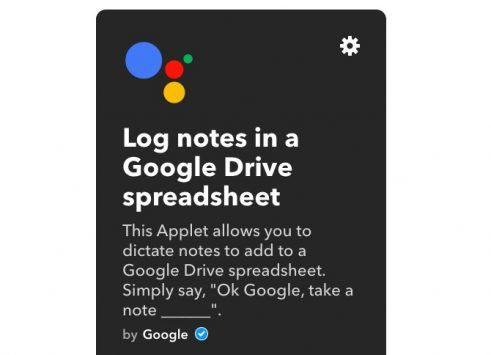 ifttt applets google assistant