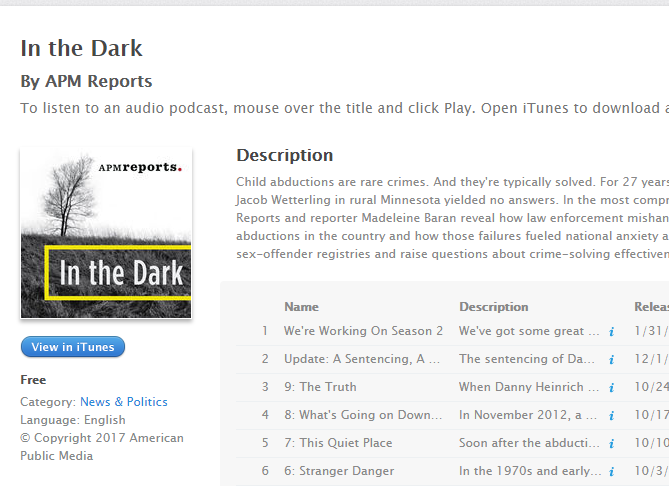 podcast in the dark