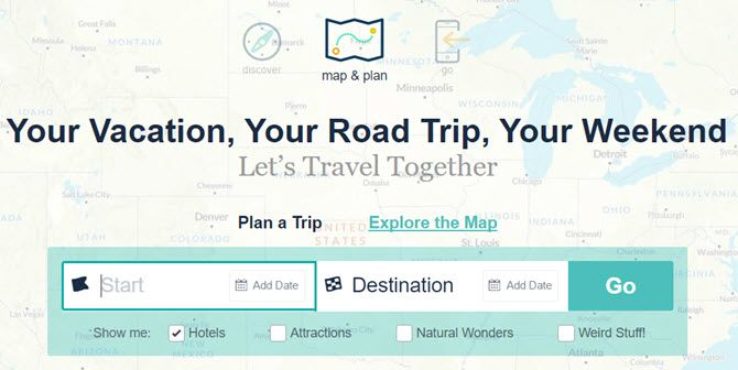 roadtrippers plan trip