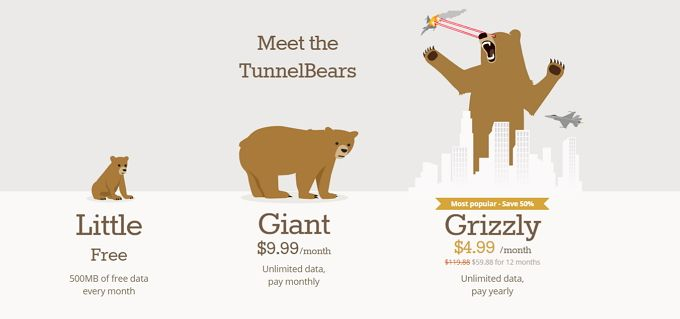 TunnelBear: The Easiest VPN For Protecting Your Privacy TunnelBear Pricing