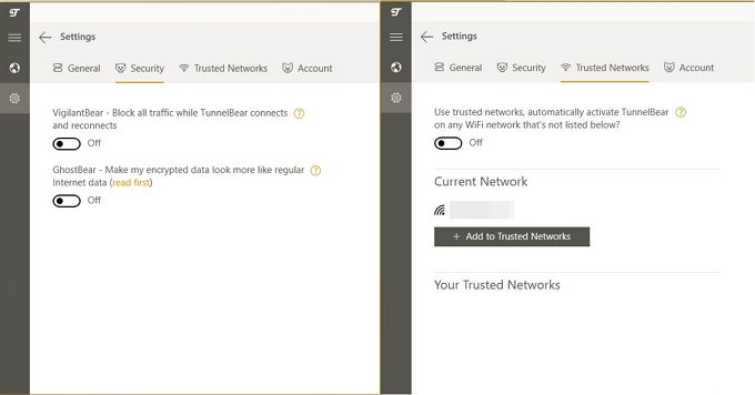 TunnelBear: The Easiest VPN For Protecting Your Privacy TunnelBear Settings