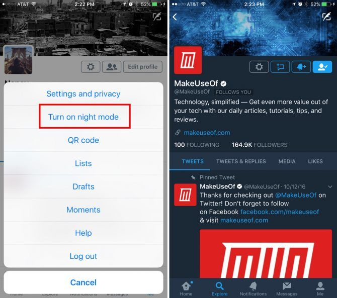 These Popular Apps Support Night Mode on iOS Twitter Night Mode e1496342395135