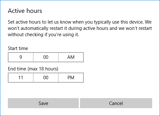 windows 10 active hours