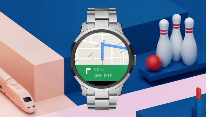 Google Maps navigation on a Wear OS smartwatch